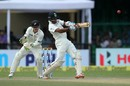 Cheteshwar Pujara lays into a short ball, India v New Zealand, 1st Test, Kanpur, 3rd day, September 24, 2016