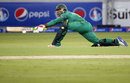 Sarfraz Ahmed reaches out to sweep, Pakistan v West Indies, 2nd T20I, Dubai, September 24, 2016