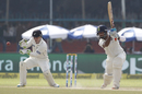 Cheteshwar Pujara drives through the off side, India v New Zealand, 1st Test, Kanpur, 4th day, September 25, 2016