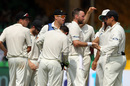 Mark Craig is congratulated after dismissing Virat Kohli, India v New Zealand, 1st Test, Kanpur, 4th day, September 25, 2016