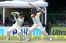 Ajinkya Rahane drives square of the wicket, India v New Zealand, 1st Test, Kanpur, 4th day, September 25, 2016