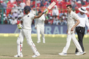 Ravindra Jadeja unfurls his trademark bat-twirling celebration, India v New Zealand, 1st Test, Kanpur, 4th day, September 25, 2016