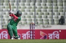 Imrul Kayes drives through cover, Bangladesh v Afghanistan, 1st ODI, Mirpur, September 25, 2016