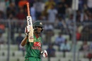 Mahmudullah acknowledges his fifty, Bangladesh v Afghanistan, 1st ODI, Mirpur, September 25, 2016