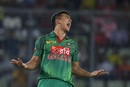 Taskin Ahmed is ecstatic after picking up one of his four wickets, Bangladesh v Afghanistan, 1st ODI, September 25, 2016