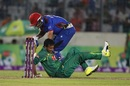 Shakib Al Hasan makes a desperate attempt to stop the ball, Bangladesh v Afghanistan, 1st ODI, September 25, 2016