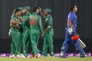 Taijul Islam celebrates with team-mates after dismissing Hashmatullah Shahidi, Bangladesh v Afghanistan, 1st ODI, September 25, 2016