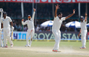 R Ashwin appeals unsuccessfully for the wicket of Ish Sodhi, India v New Zealand, 1st Test, Kanpur, 5th day, September 26, 2016