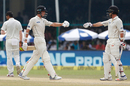 Mitchell Santner and Luke Ronchi shared a stand of 102 runs, India v New Zealand, 1st Test, Kanpur, 5th day, September 26, 2016