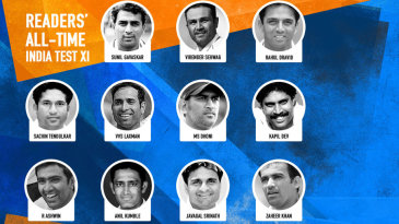 The all-time Indian Test XI based on readers' votes