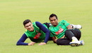 Taskin Ahmed and Rubel Hossain look relaxed during team training, Mirpur, September 26, 2016