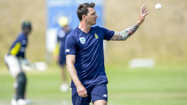 Dale Steyn at a training session
