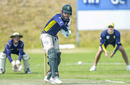 JP Duminy bats during a practice game at St Stithians College, Johannesburg, September 27, 2016