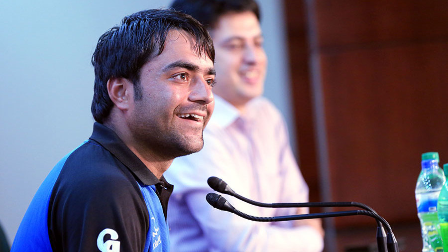 Rashid Khan addresses the media