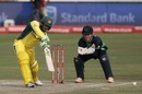 Usman Khawaja drives en route to his half century, Australia v Ireland, Only ODI, Benoni, September 27, 2016