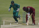Chadwick Walton was dismissed for a first-ball duck, Pakistan v West Indies, 3rd T20I, Abu Dhabi, September 27, 2016