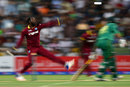Kesrick Williams bowls on debut, Pakistan v West Indies, 3rd T20I, Abu Dhabi, September 27, 2016