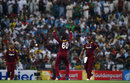 Kesrick Williams does a jig after striking on debut, Pakistan v West Indies, 3rd T20I, Abu Dhabi, September 27, 2016