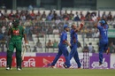 Mirwais Ashraf removed the two openers in quick succession, Bangladesh v Afghanistan, 2nd ODI, Mirpur, September 28, 2016