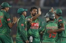 Shakib Al Hasan struck twice early in Afghanistan's chase, Bangladesh v Afghanistan, 2nd ODI, Mirpur, September 28, 2016