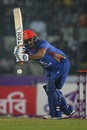 Mohammad Shahzad eyes the leg side, Bangladesh v Afghanistan, 2nd ODI, Mirpur, September 28, 2016