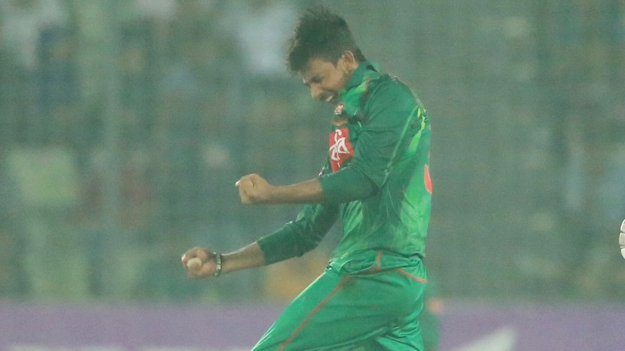 Mosaddek Hossain took a wicket with his first ball in ODI cricket