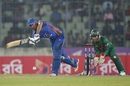Afghanistan captain Asghar Stanikzai clips one to the leg side, Bangladesh v Afghanistan, 2nd ODI, Mirpur, September 28, 2016
