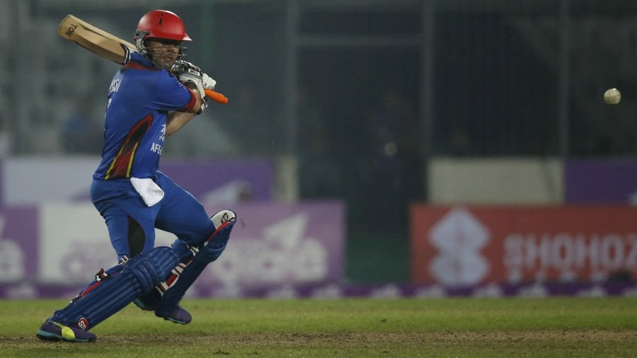 Mohammad Nabi laces a cut through point