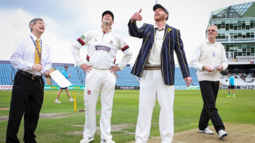 Andrew Gale, of Yorkshire, and Marcus Trescothick, Somerset's captain, toss under the old regulations in 2015