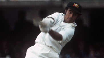 Alan Turner bats during the 1975 World Cup final