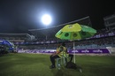 Bangladeshi police officials guard the field at Sher-e-Bangla Stadium, Bangladesh v Afghanistan, 2nd ODI, Mirpur, September 28, 2016