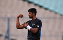 Ish Sodhi prepares to bowl in the nets, Kolkata, September 29, 2016