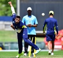 Tabraiz Shamsi rolls his arm over at training, Centurion, September 29, 2016