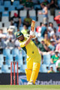 Aaron Finch strikes a straight six, South Africa v Australia, 1st ODI, Centurion, September 30, 2016