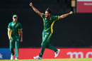 Imran Tahir celebrates in familiar style, South Africa v Australia, 1st ODI, Centurion, September 30, 2016
