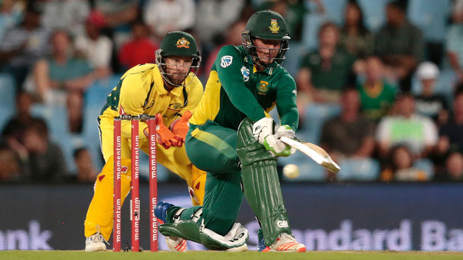 Quinton de Kock was quickly out of the blocks