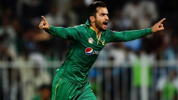 Mohammad Nawaz sets off on a celebratory run