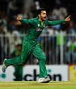 Mohammad Nawaz sets off on a celebratory run, Pakistan v West Indies, 1st ODI, Sharjah, September 30, 2016