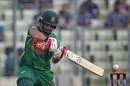 Tamim Iqbal slaps one through the off side, Bangladesh v Afghanistan, 3rd ODI, Mirpur, October 1, 2016