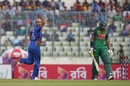 Mirwais Ashraf dismissed Soumya Sarkar early, Bangladesh v Afghanistan, 3rd ODI, Mirpur, October 1, 2016