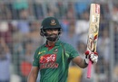 Tamim Iqbal raised his half-century off 63 balls, Bangladesh v Afghanistan, 3rd ODI, Mirpur, October 1, 2016