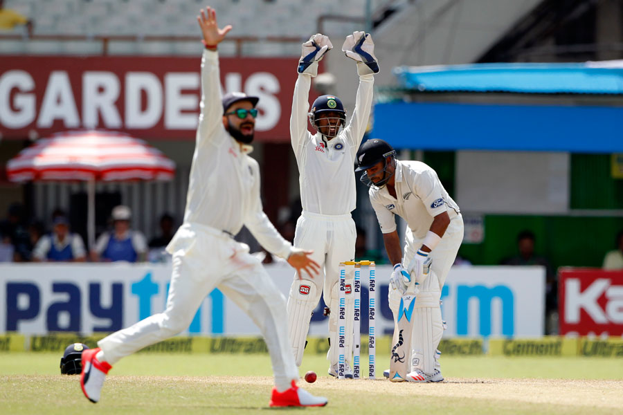 India set New Zealand 376 to win Kolkata test