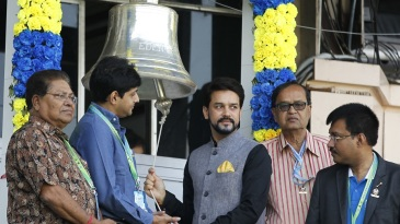 Anurag Thakur rings the bell ahead of the fourth day