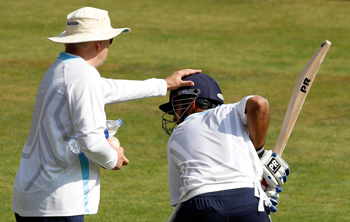 Duncan Fletcher was among those instrumental in shaping Rahane's game