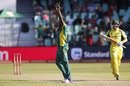 Andile Phehlukwayo removed George Bailey, Australia v South Africa, 3rd ODI, Durban, October 5, 2016