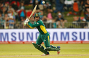 Quinton de Kock pierces a gap in the off side, Australia v South Africa, 3rd ODI, Durban, October 5, 2016
