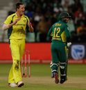 Chris Tremain dismissed Quinton de Kock for 70, Australia v South Africa, 3rd ODI, Durban, October 5, 2016