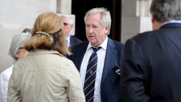Rod Bransgrove at the memorial service for Tony Greig