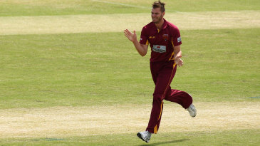 Mark Steketee celebrates after removing Hilton Cartwright