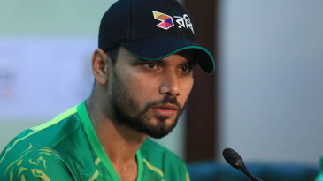 Mashrafe Mortaza addresses the media in Dhaka
